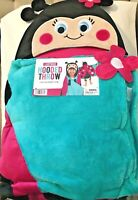 "Ladybug Kids Plush Hooded Throw by Best Brands 27""x 52"" NEW!"