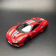 New 1/24 Bburago Ferrari 488 Pista car model door open & Close Red 18-26026