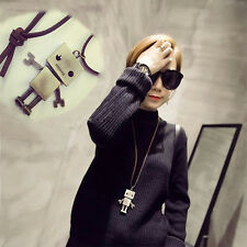 Retro Robot Sweater Chain Length Cartoon Exaggerated Fashion Necklace Korea