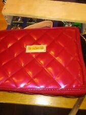 NEW RED Joy & Iman travel bag and Roll-Up Organizer/Travel Bag/Makeup