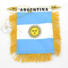 """ARGENTINA"" FLAG MINI BANNER CAR WINDOW MIRROR"