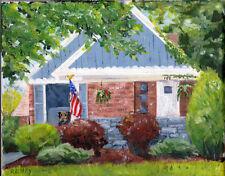 """Custom House Portrait Oil Painting 8 x 10"""" on canvas, from photos, acrylic art"""