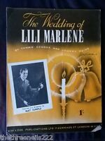 ORIGINAL SHEET MUSIC - THE WEDDING OF LILI MARLENE - NAT TEMPLE