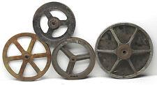 4 Antique Industrial Heavy Machine Pulley Wheel Cast Iron Metal Spoke Steampunk
