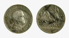 pcc2137_1) Vittorio Emanuele III (1900-1943) - 2 Lire Quadriga Veloce 1908 TONED