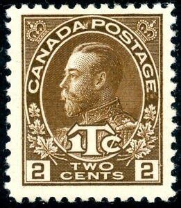 CANADA 1916 KGV ADMIRALS WAR TAX 2x 2c+1c BROWN (PF12 & IMPx8) (SG239&243) LMM