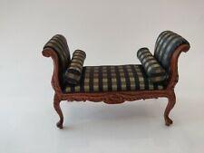 Dollhouse Miniature Victorian Green Settee Bench Sofa 1:12 #192