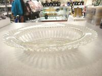 """Anchor Hocking Depression Glass Miss America Crystal OVAL SERVING BOWL 10 1/4"""""""