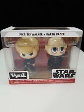 Funko Vynl. Star Wars™: Luke Skywalker™ + Darth Vader™ Vinyl Bobble-Heads New