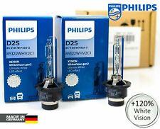 X2 D2S Blanco Xenon Philips Visión Gen2 Coche Headlight Bulbs +120% 5000K 85122WHV2