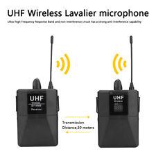 Micrófono Lavalier inalámbrico UHF de 20 canales para cámara de teléfono
