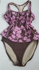 Women's Victoria's Secret 2 Piece tankini brown pink racer back swim set size L