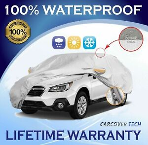 100% Weatherproof Full SUV Cover with Door Zipper For Subaru Outback [2005-2020]
