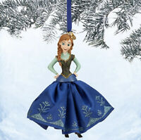 Disney Store 2014 Frozen Anna Sketchbook Christmas Ornament NEW Movie Elsa Olaf