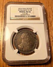 1824 Peru BOLIVAR Revolutionary Medal Ayacucho fonrobert-9178 silver reales Lima