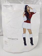 Naughty Mrs Claus Costume Women's Small 4-6 Red White Mini Dress READ NEW 1223