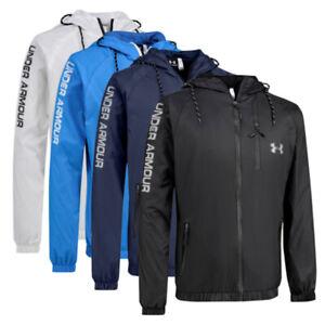Mens Jacket Under Armour Lightweight Full Zip Hiking Activewear Outdoor Coat New