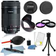 Canon EF-S 55-250mm f/4-5.6 IS STM Lens for DSLR Cameras + Accessory Bundle