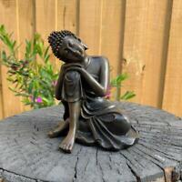 Meditative Buddha Statue Garden Home Décor Figurine Statues Ornament 12.5cm