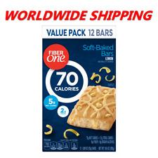 Fiber One 70 Calories Soft-Baked Bars Lemon 12 Ct 10.6 Oz WORLDWIDE SHIPPING