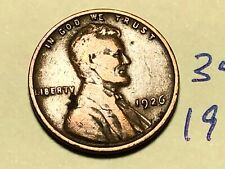 1926 1C BN Lincoln Cent WHEAT PENNY 3434K