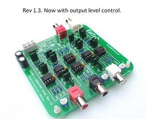 2.1 24dB/oct stereo active crossover with single sub output assembled Buttkicker