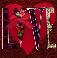 Beautiful Square LOVE Valentine's Day Greeting Card Embellished Cards