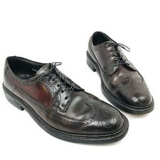 HANOVER LB Sheppard 2351 Brown Full Wingtip Shell Cordovan Mens Shoes 9 E Wide