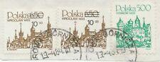 POLEN 1984 Kab.-Briefstück 5 Zlotty u 10 auf 6,50 Zlotty (2x) AUFDRUCKABART