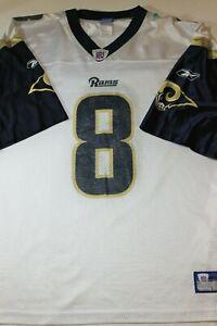 Men's New Reebok Los Angeles Rams Sam Bradford #8 Jersey XL 26 x 31.5 XL