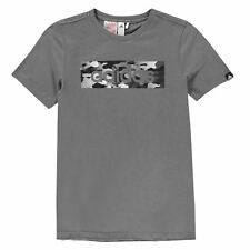 New Adidas Junior Boys Short Sleeve Camo Linea / 03QTT t Shirt Top Size Age 7-13