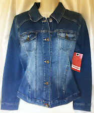 NWT Wrangler Country Western WRBW8HZ Horizon Womens Denim Jean Jacket Large New