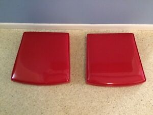 Vintage Red Vinyl Seats Cushions 1950s Dinning or Patio Chairs - ONE Pair MCM