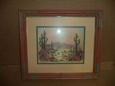 Vintage Kathleen English Pitts Home Interior Framed And Matted Print Southwest