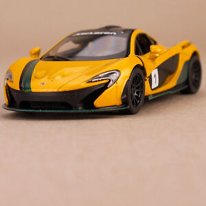 2013 Yellow McLaren P1 Racer Model Car Pull Back 1:36 Scale Die-Cast Openable