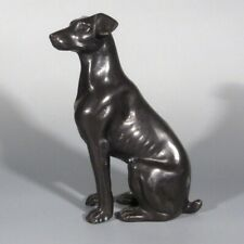 Vintage French Bronze Statue Figurine of a Dog
