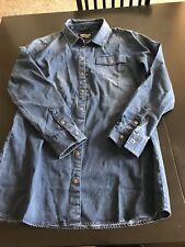 Barbour New Blue Denim Color Amazing Long Sleeve Shirt Sz 6