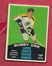 1970-71 OPC  # 248 BRUINS BOBBY ORR  JAMES NORRIS TROPHY CARD
