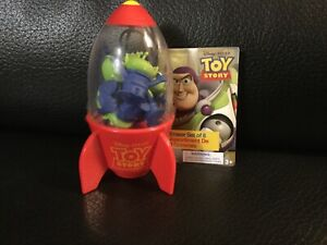 Pixar Disney Store Alien Claw Pizza Planet Rocket Toy Story 8 Eraser Rubber Set