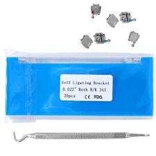 Dental Orthodontic Bracket 022 345 Hooks Roth Self Ligating Brackets With Tool