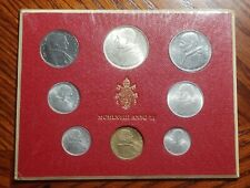 Vatican City 1967  8 Coin Mint Set with Silver 500 Lire Coin (KM-MS74)