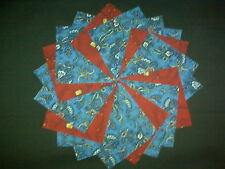 30 4 inch Blue Quilt Fabric Squares~4071b