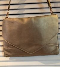 Melie Bianco Foldover Envelope Clutch Crossbody Shoulder Bag EUC