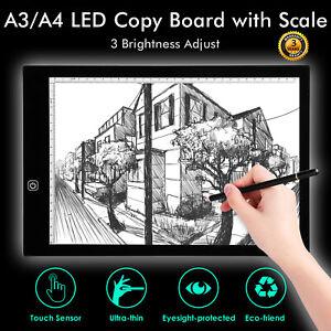 A3 A4 LED Drawing Board Light Box Slim Tracing Pad Copy Tattoo Art Craft Stencil