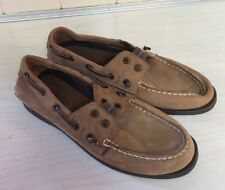 Sperry Top-Sider Lexington boys 5 M Boat Shoes slip on suede brown leather