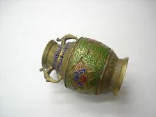 "Antique Japanese Japan Enamel Inlay Champleve Vase Cloisonne Gorgeous 6"" Good A1"