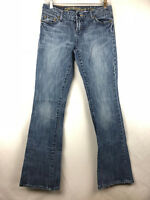 American Eagle Women's Size 4 R Hipster Flare Low Rise Medium Wash Jeans