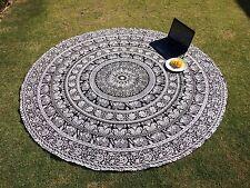 Throw Round Mandala Beach Throw Hippie Yoga Mat Bohemian Round Tapestry UK