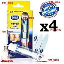 ORIGINAL 4x Scholl Fungal Nail Treatment 3,8ml Kills Fungus 99.9%