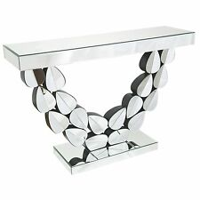Modern Venetian Mirror Feuille Curved Leaves Console Hall Side Table SECONDS